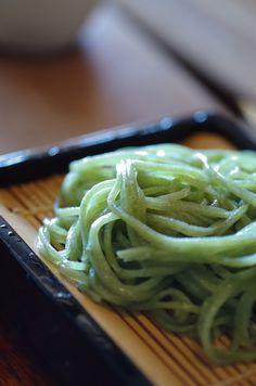 Nori Seaweed Powder Mixed Japanese Soba Noodles|新海苔そば