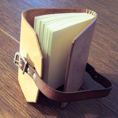 Leather Journal or Sketchbook Tan w/Blunted Point by MJADesigns