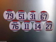Montreal Canadiens 2014 Magnet Set Featuring: Subban, Plekanec, Price, Gallagher #MontrealCanadiens Magnet Set for the Holidays!