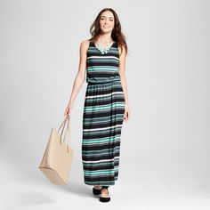 Women's Maxi Dresses Green S - Merona