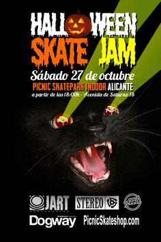 27 de Octubre HALLOWEEN Skate Jam en el skatepark indoor de Picnic en Alicante