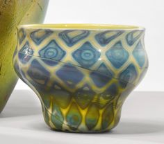 """Tiffany Studios A RARE """"AGATE"""" BOWL engraved o6096 and with firm's applied paper label       favrile glass 4 1/8  in. (10.5 cm) high 5 3/8  in. (13.6 cm) diameter circa 1897-1898"""