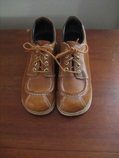 60 Vintage Honey Leather Wedge Shoes For by ElVestidordeLuisita, $32.00