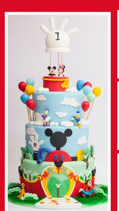Mickey mouse clubhouse cake by GemaSweets.