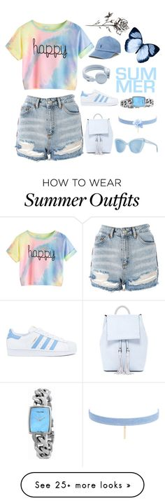 """because I'm happy"" by kezhea on Polyvore featuring Topshop, adidas, Polo Ralph Lauren, Urbanears, French Connection, Prism, Jules Smith and Calvin Klein"
