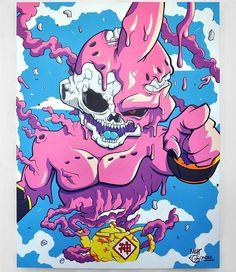 Dragon Ball Gt, Anime Echii, Anime Art, Buu Dbz, Desenho New School, Majin Boo, Badass Drawings, Trill Art, Dope Cartoon Art