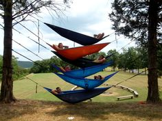 Enjoying a little down time at camp this summer...no better time to be in an ENO :) @ENO Hammocks