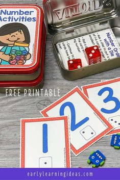 Add these free printable 1-12 number cards, counters, Preschool Activities At Home, Kindergarten Math Games, Number Activities, Preschool Math, Numbers Preschool, Counting Activities, Learning Activities, Free Printable Numbers, Printable Puzzles For Kids