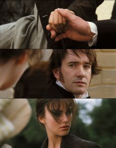 Pride and Prejudice <3 This part of the movie makes my heart skip a beat.