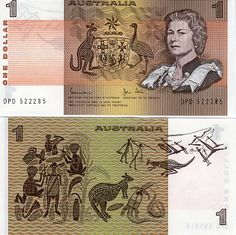 Australia One Dollar Banknote Condition-UNC Australian Money, Money Notes, Elisabeth Ii, Old Money, One Dollar, My Childhood Memories, Rare Coins, Aboriginal Art, Queen Victoria