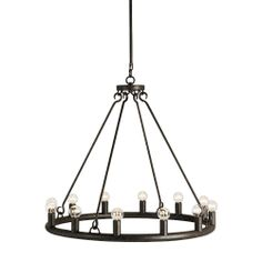 Wilford Circular Chandelier in Mayfair finish by Currey and Company. - LIMITED AVAILABILITY