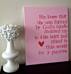 16x20inch Quote on Canvas  She Knew That She by DreamLoveBoutique, $40.00