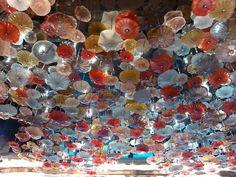 Lotus Art Glass at the Main Lobby of Manila Diamond Hotel.  #Chandelier #Artglass