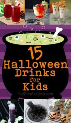 15 #Halloween Drinks for Kids #halloween2013 #kidfriendly #non-alcoholic