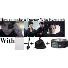 DIY Doctor Who Eyedrive with paper, duct tape, and garbage bag