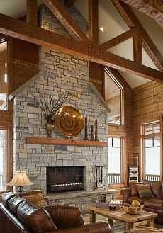 HUGE stone fireplace :)