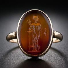 Hermes Carnelian Intaglio Ring - 30-1-5080 - Lang Antiques