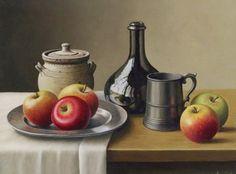 Cuadros Modernos Pinturas : El Clásico Estilo del Bodegón Inglés En La Pintura de Pintora Anne Songhurst