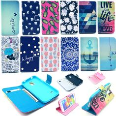 New Folio Flip Stand Paint Wallet Card Magnetic Case Cover For Samsung iPhone #UnbrandedGeneric