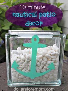 10 Minute Decor: Nautical Patio Vase | Dollar Store Mom Frugal Fun – Crafts for Kids