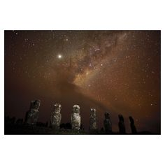 Ahu Akivi, Easter Island, Chile  National Geographic Art Store