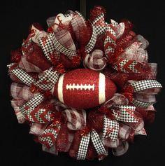 Alabama Sports Wreath Crimson Tide Roll Tide by wreathsbyrobin  See more at: https://www.etsy.com/shop/wreathsbyrobin