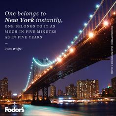 One belongs to NYC instantly....