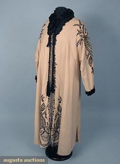 64c00260e044 EMBROIDERED WOOL OPERA COAT, c. 1910 Belle Époque, Haute Couture, Mode Des
