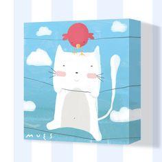 muralestudio - Cuadros infantiles pintados a mano. Nursery Paintings, Nursery Art, Kids Prints, Canvas Art Prints, Painting For Kids, Art For Kids, Baby Posters, Cute Doodles, Cat Colors