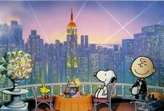 DINING OUT: Snoopy & Woodstock dining out in a restaurant with a view of the city. --Peanuts Gang/Snoopy & Woodstock (ˆ◡ˆ) Peanuts Cartoon, Peanuts Snoopy, Schulz Peanuts, Charles Shultz, Snoopy Quotes, Charlie Brown And Snoopy, Snoopy And Woodstock, Sanrio Characters, Sketches