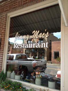 Jimmy's Mac's Restaurant in Bryson City, North Carolina - great food!