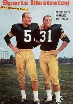 Paul Hornung and Jim Taylor - SI Cover, August 1966.