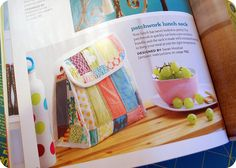 hip to piece squares lunch sack in stitch