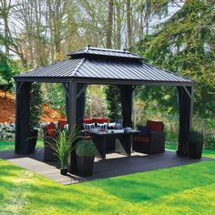 What is Outdoor Gazebos? A gazebo is a pavilion structure, sometimes octagonal or turret-shaped, often built in a park, garden or spacious public area. Outdoor Gazebos Design A out
