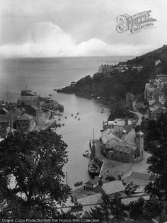 Photo of Looe, Entrance To Harbour 1927 from Francis Frith Looe Cornwall, Devon, Holiday Fun, Vintage Photos, Places Ive Been, Entrance, Sailing, Nostalgia, Clouds