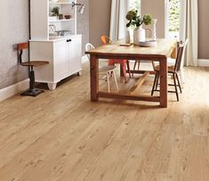 Karndean LooseLay Cambridge is a warm and bright floor with a very open, refined grain pattern. The super-grippy backing on each board means it can often be laid with no adhesive at all, and once laid it absorbs a lot of noise, for a quieter home.