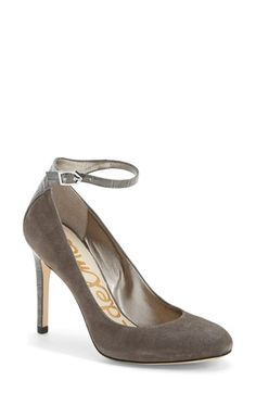 Free shipping and returns on Sam Edelman 'Ciara' Round Toe Pump (Women) at Nordstrom.com. A slim ankle strap is both flattering and functional on a round-toe pump that's apropos for uptown, downtown and anywhere in between.