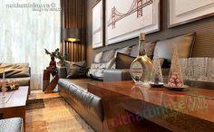 Phòng khách Palm Garden mang thiết kế hiện đại sang trọng,  trọng tâm vẫn là bộ Sofa da nâu với những đường nét mạnh mẽ của hệ khung, đệm mềm bọc da phía trên, chân ghế inox sáng bóng, bàn trà đồng bộ với tỉ lệ thiết kế được tôn trọng, đơn giản nhưng toát nên vẻ đẹp hiện đại .
