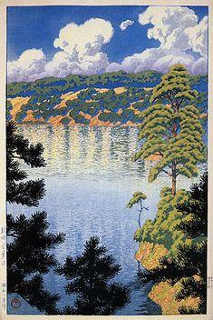 hanga gallery . . . torii gallery: Karasu Swamp, Akita by Kawase Hasui