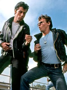 Danny Zuko and Kinickie (Grease) Grease 1978, Grease 2, Grease Movie, Movie Tv, Danny Grease, Grease Boys, Grease Play, Iconic Movies, Old Movies