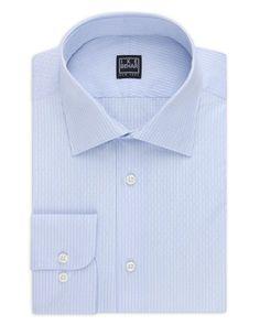 Ike Behar Dobby Stripe Dress Shirt - Classic Fit