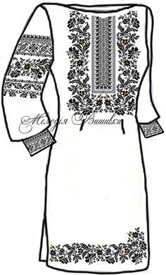 Заготовка для вишивки жіночої сукні (ПЖ 32)