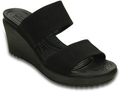 crocs Women's Leigh II 2 Strap Wedge W Wedge Sandal