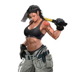 Strong Female Characters, Girls Characters, Female Character Design, Character Design Inspiration, Muscular Women, Woman Drawing, Strong Girls, Badass Women, Muscle Girls