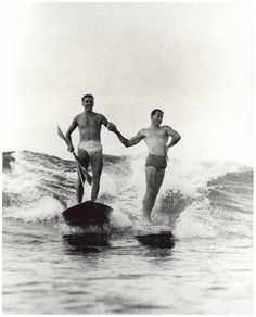 Synchronised surfing,Manly beach, New South Wales, 1938-46 | Flickr - Photo Sharing!