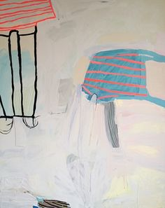 Swimming Trunks (from The Fantastic Undersea Life of Jacques Cousteau), Mixed media on panel. Sarah Boyts Yoder