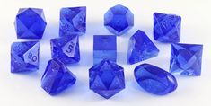 Gamescience Dice (Sapphire GEM) | 12 Piece RPG Precision Dice Set – Dark Elf Dice