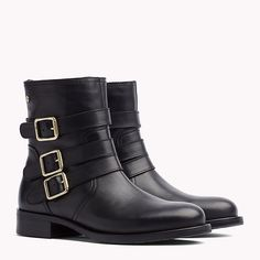 TOMMY HILFIGER Leather Ankle Boot - BLACK - TOMMY HILFIGER Tommy Hilfiger - main image