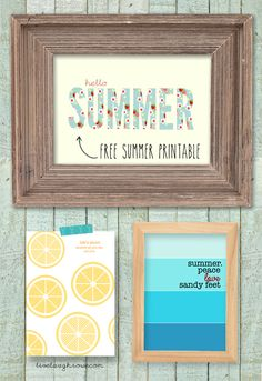 Fabulous and darling printable to celebrate the entrance of summer! Hello Summer.... We've been waiting for you! #summer #printable