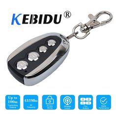 Kebidu Universal Electric 4 Button 433 92 Mhz Auto Copy Remote Control Duplicator Cloning Car Key Garage Door Remote Control Garage Door Remote Remote Control